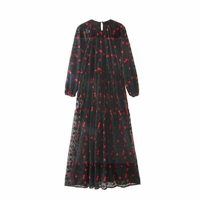 The Black Boho Long Dress style