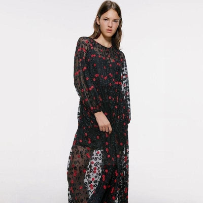 The Black Boho Long Dress low price