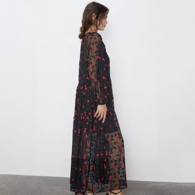 The Black Boho Long Dress cute