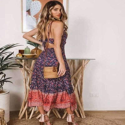 Fashionable Hippie Long Dress finely tailored