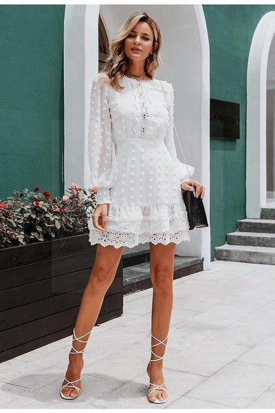 Romantic Boho White Dress review