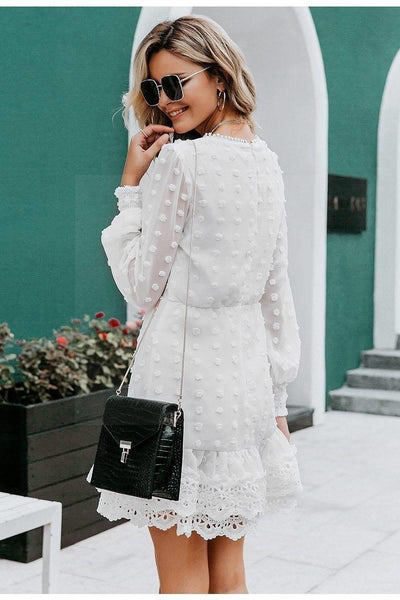 Romantic Boho White Dress cute