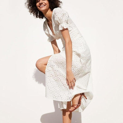 Boho White Dress Chic Woman 1 best