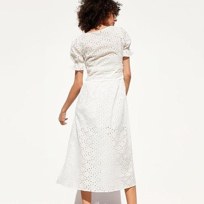 Boho White Dress Chic Woman 1 hippie