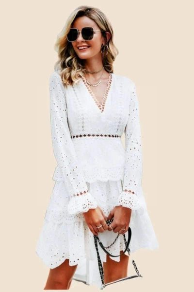 Chic And Boho White Dress low price