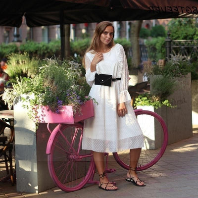 White Lace Boho Style Dress luxury