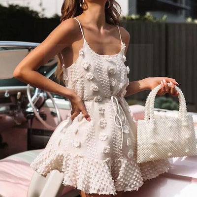 Boho Dress White Lace women