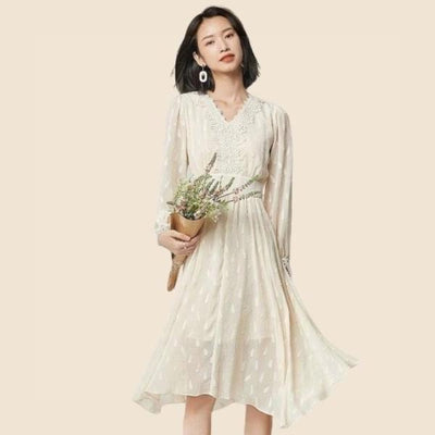 Boho Chic Cream Dress 2020