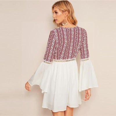 Short White Boho Dress