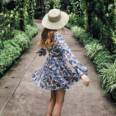 Chic Boho Dress Blue 1