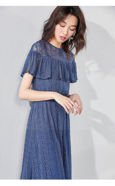 Boho Chic Dress Navy Blue 2020