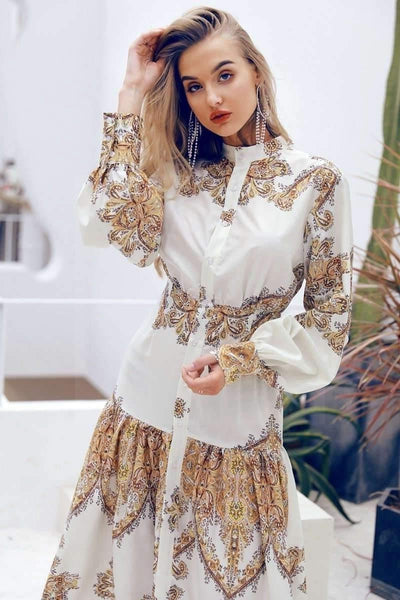 Golden Boho Dress boho