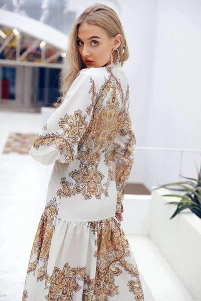 Golden Boho Dress