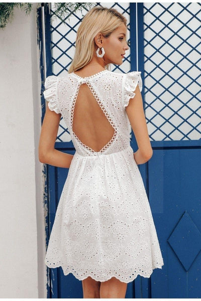 Boho Dress With Lace Back boho