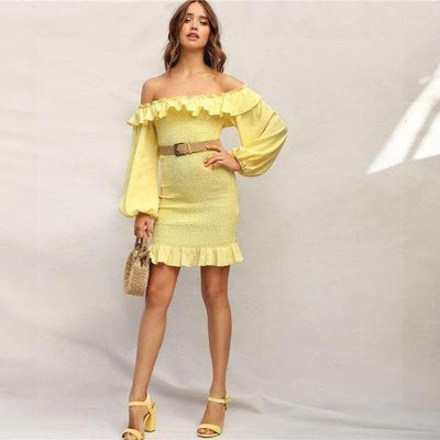 Yellow Boho Dress low price
