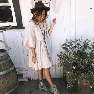 Plain Long Boho Dress 2020