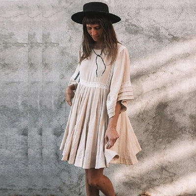 Plain Long Boho Dress boho chic