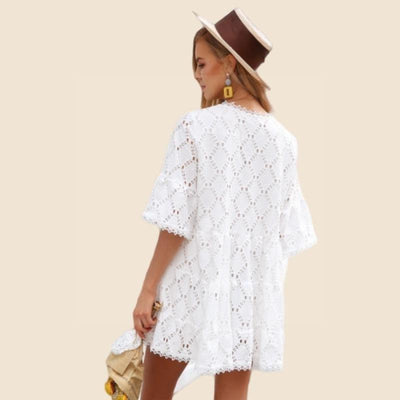 Boho Dress With Short Sleeves high quality