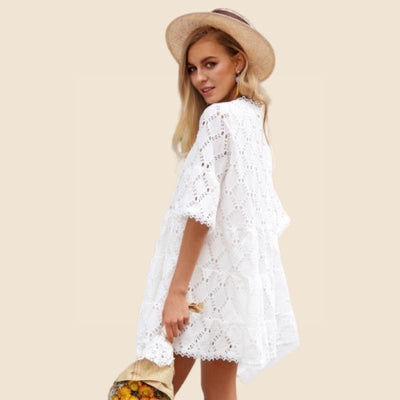 Boho Dress With Short Sleeves cute