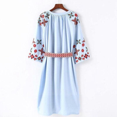 Boho Dress Mid Long Winter