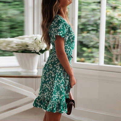 Chic Boho Dress In Water Green luxury
