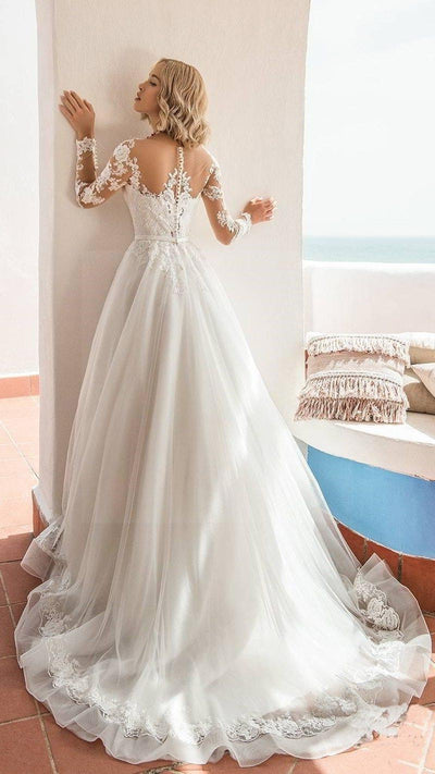 Boho Wedding Dress Chic Woman 2019