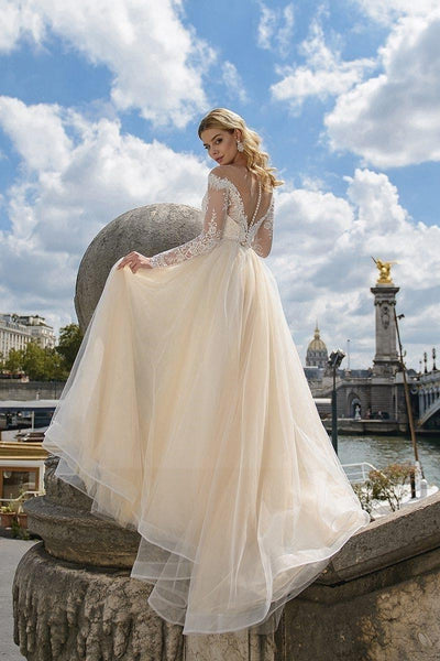Ivory Boho Wedding Dress trendy
