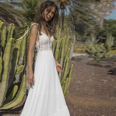 Boho And Chic Wedding Dress boho