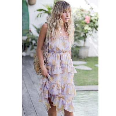 Hippie Chic Flowing Dress chaming