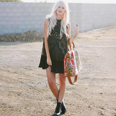 Black Hippie Chic Dress cute