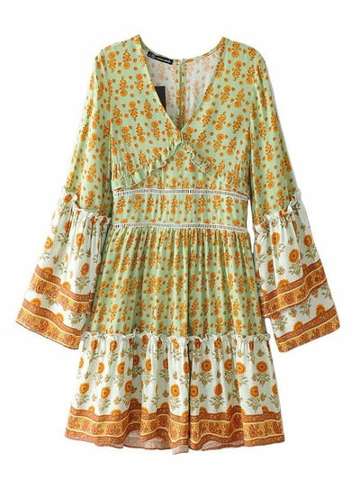 Green Hippy Dress