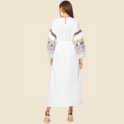 Boho Long Dress With Embroidery cute