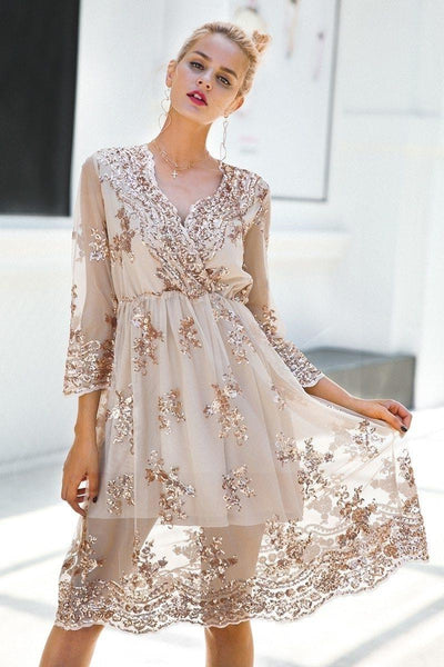 Beige Chic Boho Long Dress bohemian