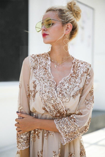 Beige Chic Boho Long Dress bohemian life