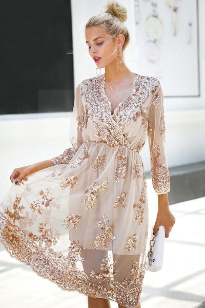 Beige Chic Boho Long Dress trendy