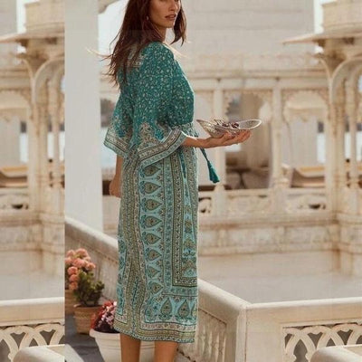 Boho Long Dress Chic Woman 2020