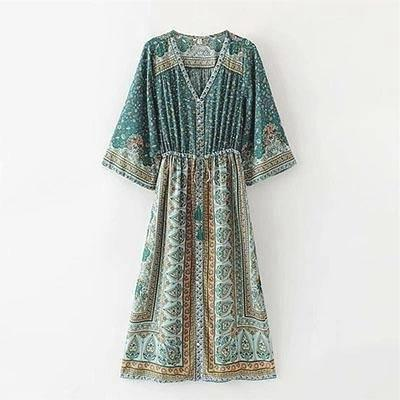 Boho Long Dress Chic Woman cheap