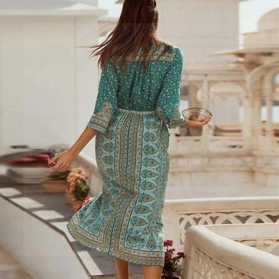 Boho Long Dress Chic Woman bohemian life