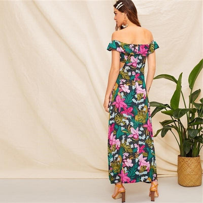 Floral Chic Boho Dress low price