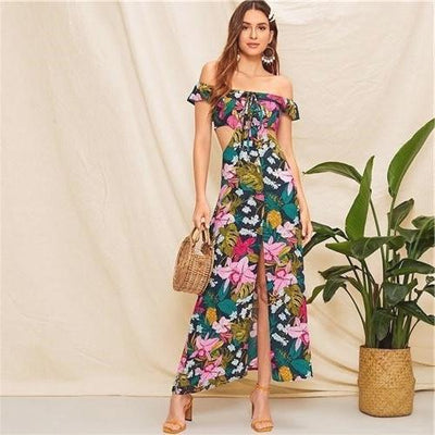 Floral Chic Boho Dress luxury