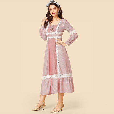 Chic Boho Long Dress In Pale Pink finely tailored