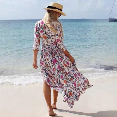 Boho Chic Powder Pink Long Dress chaming