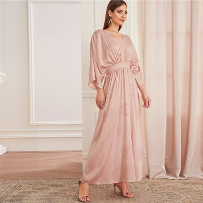 Boho Chic Pink Dress high quality