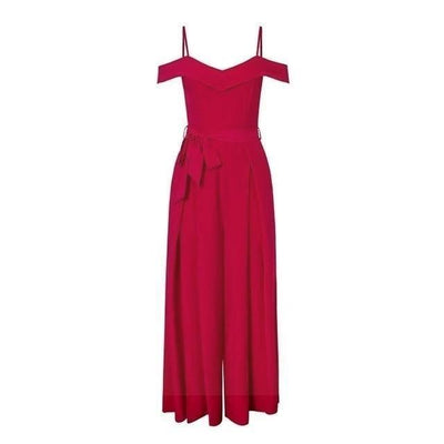 Chic Boho Long Dress In Red Ladylike