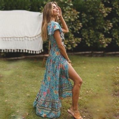 Indian Boho Long Dress bohemian life