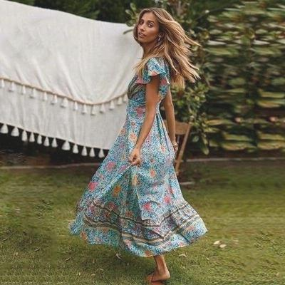 Indian Boho Long Dress high quality
