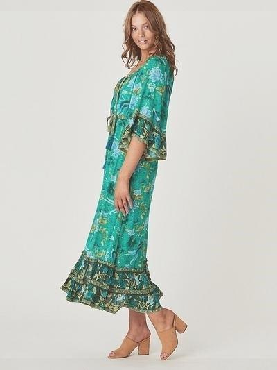 Green Boho Long Dress beautiful