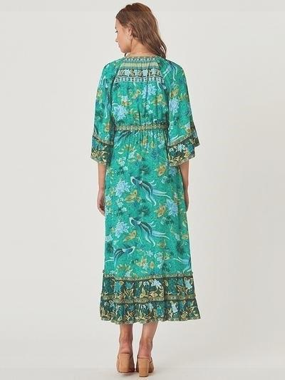 Green Boho Long Dress boho chic