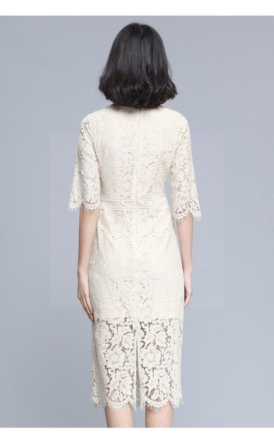 Boho Lace And Chic Long Dress Ladylike