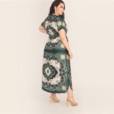 Boho Style Long Dress Large Size chaming